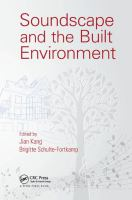 Cover image for Soundscape and the Built Environment