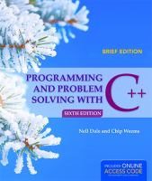 Cover image for Programming and problem solving with C++