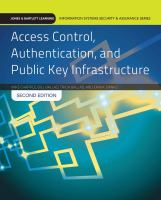 Cover image for Access control, authentication, and public key infrastructure