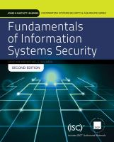 Cover image for Fundamentals of information systems security