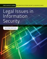 Cover image for Legal issues in information security