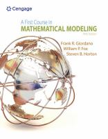 Cover image for A first course in mathematical modeling