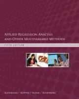 Cover image for Applied regression analysis and other multivariable methods