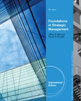 Cover image for Foundations in strategic management