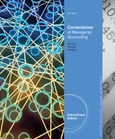 Cover image for Cornerstones of managerial accounting