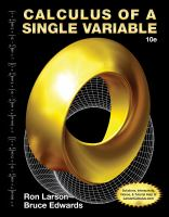 Cover image for Calculus of a single variable