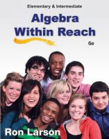 Cover image for Elementary and intermediate algebra within reach