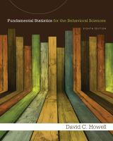 Cover image for Fundamental statistics for the behavioral sciences