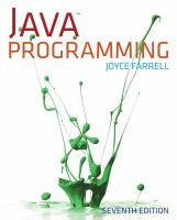 Cover image for Java programming