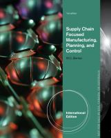 Cover image for Supply chain focused manufacturing planning and control