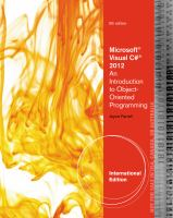 Cover image for Microsoft Visual C# 2012 : an introduction to object-oriented programming