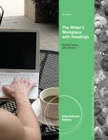 Cover image for The writer's workplace with readings : building college writing skills