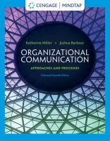 Cover image for Organizational communication : approaches and processes