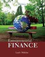 Cover image for Entrepreneurial finance