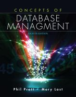 Cover image for Concepts of database management