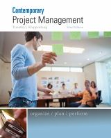 Cover image for Contemporary project management : organize, plan, perform