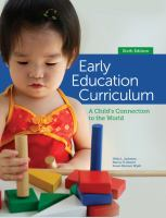 Cover image for Early education curriculum : a child's connection to the world