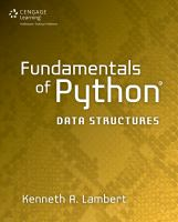 Cover image for Fundamentals of python : data structures