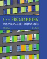 Cover image for C++ programming : from problem analysis to program design