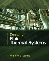 Cover image for Design of fluid thermal systems