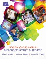 Cover image for Problem-solving cases in Microsoft Access and Excel