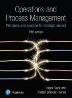 Cover image for OPERATIONS AND PROCESS MANAGEMENT : Principles and Practice for Strategic Impact