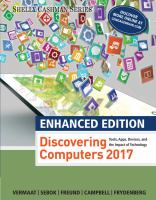 Cover image for Discovering Computers 2017 : Tools, Apps, Devices, and the Impact of Technology