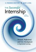 Cover image for THE Successful Internship : Personal, Professional, and Civic Development in Experiential Learning