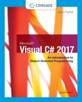 Cover image for MICROSOFT VISUAL C# 2017 : AN INTRODUCTION TO OBJECT-ORIENTED PROGRAMMING