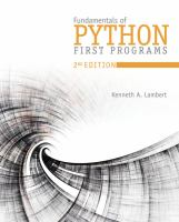 Cover image for FUNDAMENTALS OF PYTHON : FIRST PROGRAMS