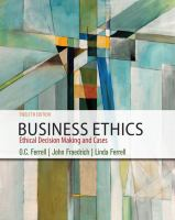 Cover image for Business ethics : ethical decision making and cases