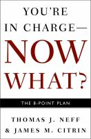 Cover image for Youre in charge, now what? : the 8 point plan