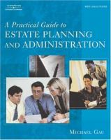 Cover image for A practical guide to estate planning and administration