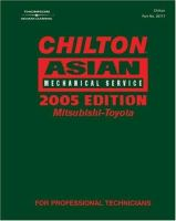 Cover image for Chilton Asian mechanical service : Mitsubishi-Toyota