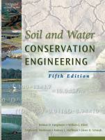 Cover image for Soil and water conservation engineering