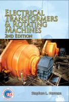 Cover image for Electrical transformers and rotating machines