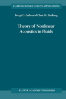 Cover image for Theory of nonlinear acoustics in fluids