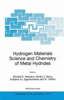 Cover image for Hydrogen materials science and chemistry of metal hydrides