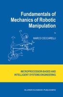 Cover image for Fundamentals of mechanics of robotic manipulation