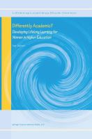 Cover image for Differently academic? : developing lifelong learning for women in higher education