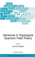 Cover image for Advances in topological quantum field theory