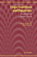 Cover image for Logic functions and equations : binary models for computer science
