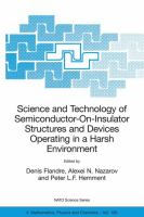 Cover image for Science and technology of semiconductor-on-insulator structures and devices operating in a harsh environment