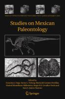 Cover image for Studies on mexican paleontology