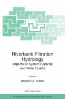 Cover image for Riverbank filtration hydrology