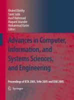 Cover image for Advances in computer, information, and systems sciences, and engineering : proceedings of IETA05, TeNe05 and EIAE05