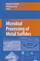 Cover image for Microbial Processing of Metal Sulfides