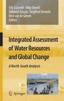 Cover image for Integrated assessment of water resources and global change : a north-south analysis