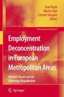 Cover image for Employment Deconcentration in European Metropolitan Areas Market Forces versus Planning Regulations