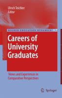 Cover image for Careers of University Graduates Views and Experiences in Comparative Perspectives